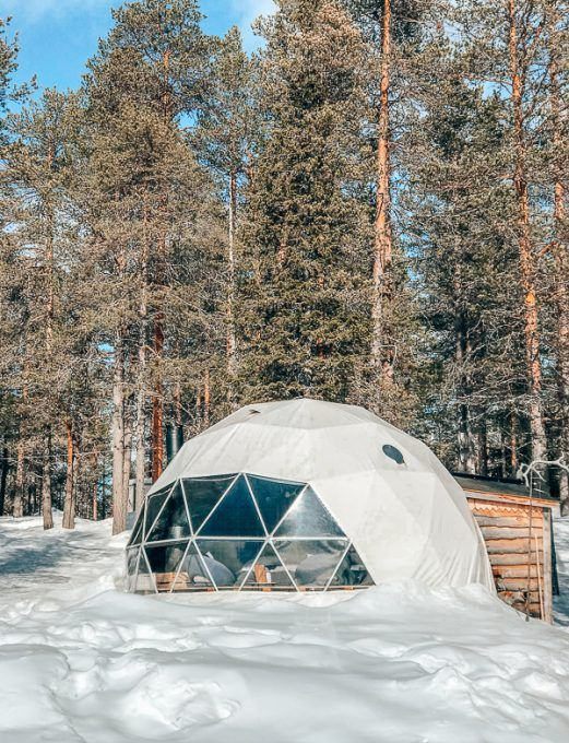 Discover Lapland: Aurora Dome. Sleeping in an igloo in Harriniva Hotels and Reindeer Sleigh